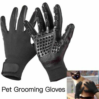 1 Pair Pet Dog Cat Horse Grooming Hair Remover Bathing Shedding Combing Gloves