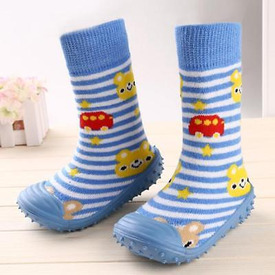 Baby Kids Toddler Girls Boys Unisex Anti-Slip Socks Shoes Slipper FW