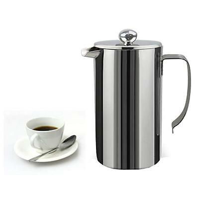 1000ML Stainless Steel French Press Coffee Tea Maker Double Wall Insulation