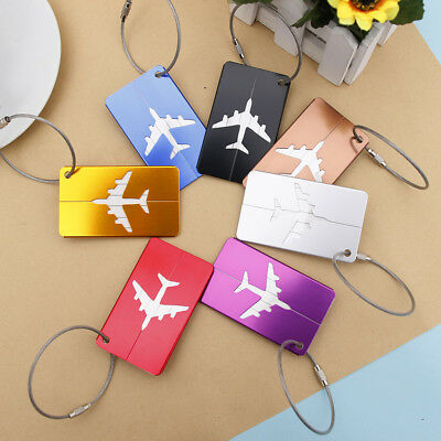 6 Colors Travel Accessories Luggage Tag Aircraft Portable Travel Suitcase Label