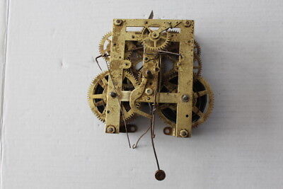 Vintage Unmarked Clock Movement  For Parts or Repair  Unit # 37