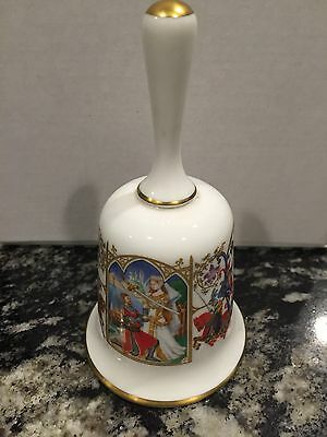 "The Romance of Camelot ""Arthur Receives Excalibur"" China Bell Franklin Porcelain"