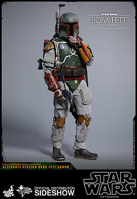 Hot Toys Boba Fett DELUXE Version Star Wars ESB 1/6 Scale Figure NEW In Stock