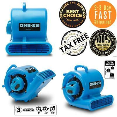 ONE 29 Air Mover Carpet Dryer Blower Floor Household Fan High CFM Low Amps Blue
