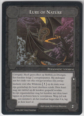 MECCG - Middle Earth ccg - Misprint - Lord of the Rings - Lure of Nature - NMINT