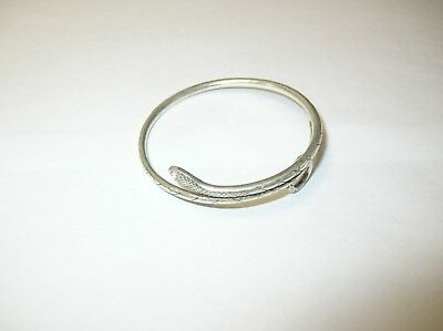 Hmong Miao Silver Totem Snake Bracelet Bangle Hand Craft Chinese Hill Tribe
