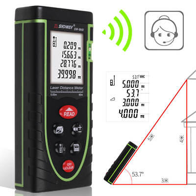 40M Digital LCD Handheld Laser Distance Meter Range Finder Measure Diastimeter