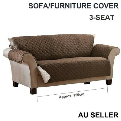 3-seat Couch Sofa Protector Quilted Lounge Cover Anti-slip Slipcover for Pet Kid