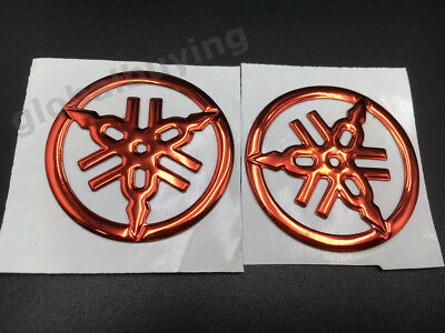 Tank Fairing Tuning Fork Emblem Decal For YAMAHA Badge Motorcycle Red Stickers