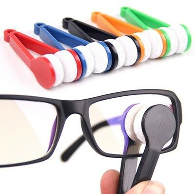 5Pcs/Lot Mini Microfiber Sun Glasses Eyeglass Spectacles Cleaning Brush Cleaners