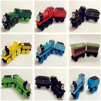 Set of 2pcs Thomas Train Tender Wooden Magnetic Railway Toy Kids Christmas Gift