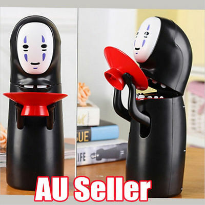 New Coin Money saving box Spirited Away No-Face Man with Music Piggy Bank OD