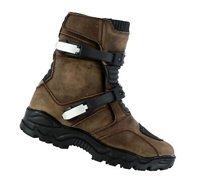 RAXID Adventure Motorbike Low Boots Motorcycle Water Proof Touring Boots Brown