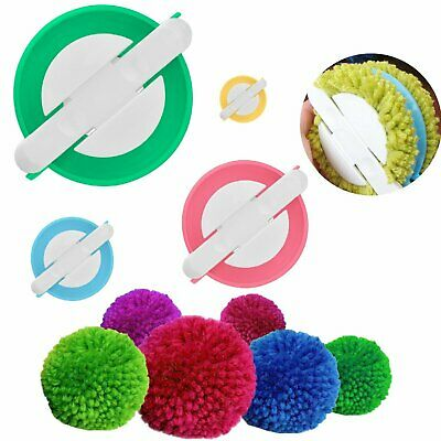 4 sizes Pompom Maker Fluff Ball Weaver Needle Craft Knitting Loom Wool Tool DIY