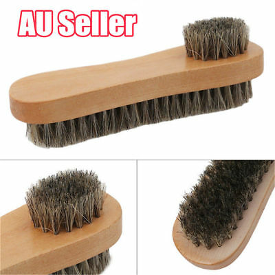 Bristle  Hair Shoe Brush Double-Sided Vamp Cleaning Tool Shoes Protector Brush O