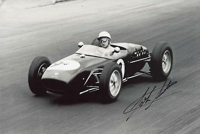 John Surtees (+) LOTUS FORMULA 1 autograph, In-Person signed photo