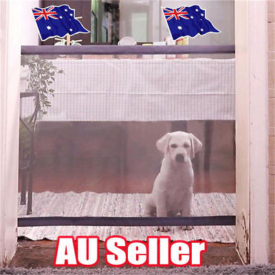 Mesh Magic Pet Dog Gate Safe Guard And Install Anywhere Pet Safety Enclosure OD