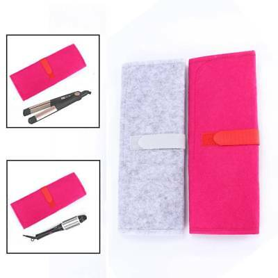 Travel Hair Straightener Storage Bag Curling Iron Pouch Heat Resistant Mat Pad