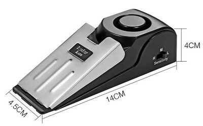 120 dB Security Home Wedge Shaped Door Stop Stopper Alarm Blocking Systerm DT4