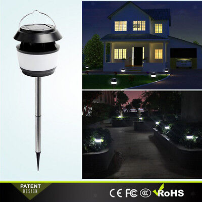Outdoor Solar Powered Mosquito Zapper Bug Fly Insect Killer Trap LED Lamp