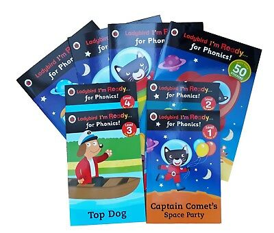 Ladybird Ready For Phonics 8 Books Collection Early Readers Work + Reading New