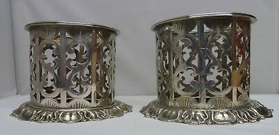 Pair Antique George Richmond Collis Silver Plated Wine Bottle Holders C19th