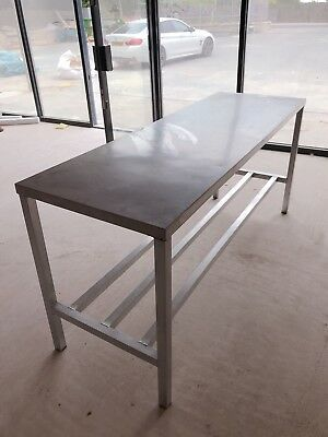Stainless Steel Worktop Table/Food Prep- Commercial Kitchen. Plates Storage