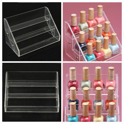 3 Tiers Acrylic Nail Polish Display Stand Cosmetic Container