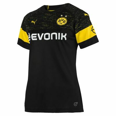 Puma Football Soccer Borussia Dortmund BVB Womens Away Jersey Shirt 2018 2019