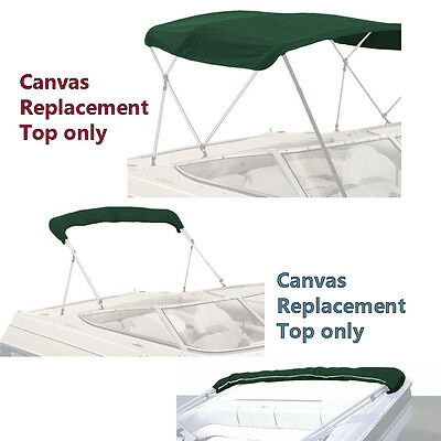 "Bimini Top Boat Cover Canvas Fabric Green W/boot Fits 4 Bow 96""l 54""h 91""-96""w"