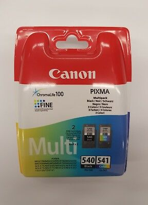 2 Original Druckerpatronen Canon Pg-540 Cl-541 Pixma Mg3150 + Chip Mg3550 Mx395