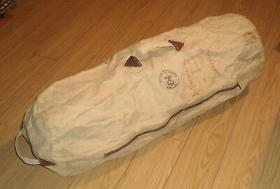 Vintage c.1960s Hard Canvas Large Bag BOY SCOUTS of AMERICA Logo Signed 746k