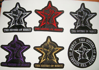 THE SISTERS OF MERCY - LOGO Embroidered PATCH Bauhaus Cure Smiths Fields of Neph