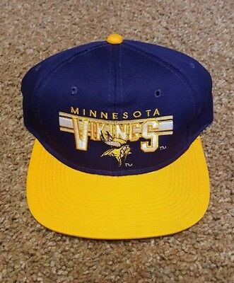 Vintage Annco Youngan Minnesota Vikings NFL purple yellow snapback hat cap 69284c106