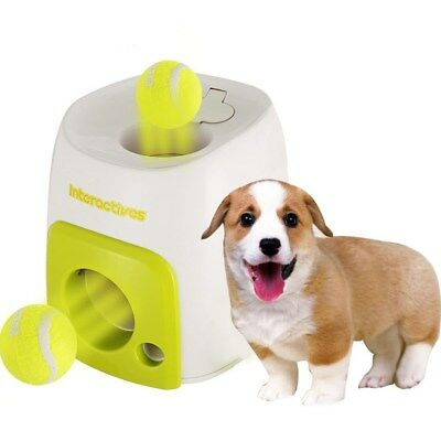 Pet Dog Launcher Tennis Ball Toy Fetch Auto Thrower Throw Up Hyper Train Toys