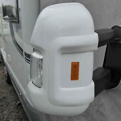 MOTORHOME SHORT ARM MIRROR PROTECTORS GUARDS reflector Fiat Ducato Boxer Citroen