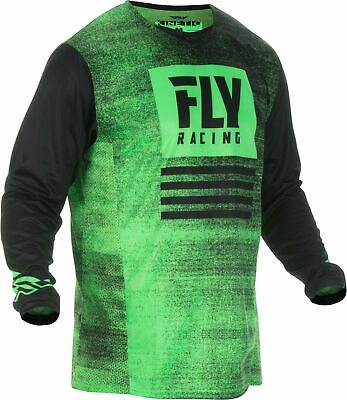Fly Racing MX Kinetic Noiz Jersey Youth and Men's Neon Green/Black