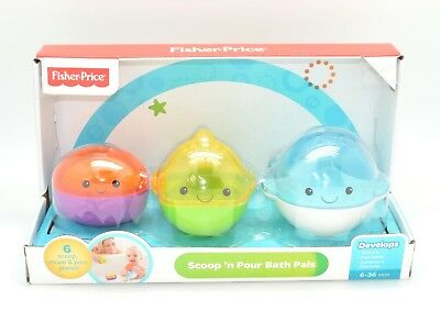 Fisher-Price Bath Toys: Scoop 'n Pour I Bath Pals I Pack of 3 (ST13)