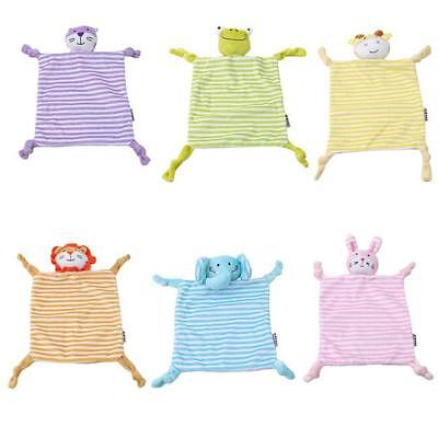 Newborn Infant Baby Sleep Appease Towel Bibs Blanket Animal Doll Plush Toy TO