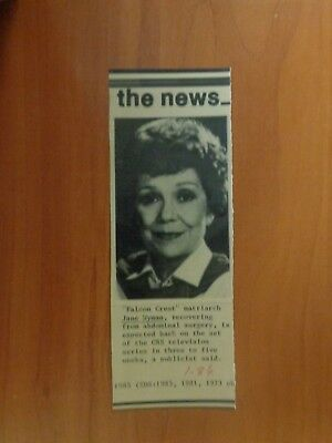 Vtg Wire Press Photo Actor Actress Jane Wyman The Lost Weekend Charlie's Angels