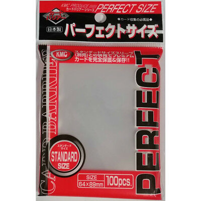 KMC STANDARD MTG Card Sleeves PERFECT FIT 100 Count