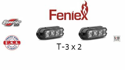 Lot of 2 Feniex LED RED T3 Grille Grill Deck Perimeter Surface Mount Fusion