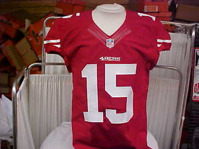 2014 NFL San Francisco 49ers Game Worn Team Issued Red Jersey Player  15  Size 34bd97e0c