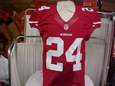 2016 NFL San Francisco 49ers Game Worn Team Issued Red Jersey Player  24  Size 01983085c