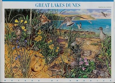 SCOTT U.S. #4352 Great Lakes Dunes Nature of America Series - SHEET OF 10 STAMPS
