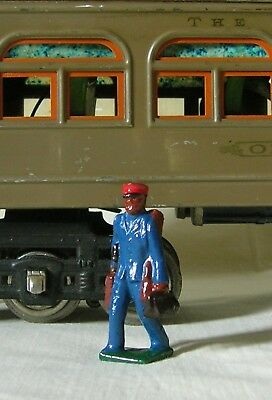 Redcap / Porter w/ luggage, Standard/G Scale train layout figure, Reproduction