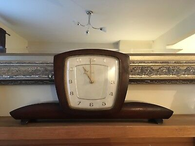 vintage smiths mantle clock, comes with original key, quite large in size