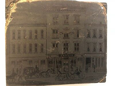 Antique 1880s Rufers Hotel LOUISVILLE KY Printers Block Plate Fifth & Main