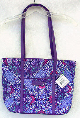 Vera Bradley Small Trimmed Vera Tote in Lilac Tapestry - NWT