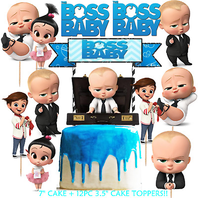 BOSS BABY CUPCAKE Toppers Pre-Cut High Quality Icing Sheet ...